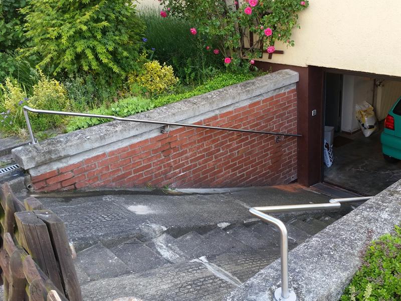 Metallzaun Vorgarten Braunschweig Handlauf Treppe Garage