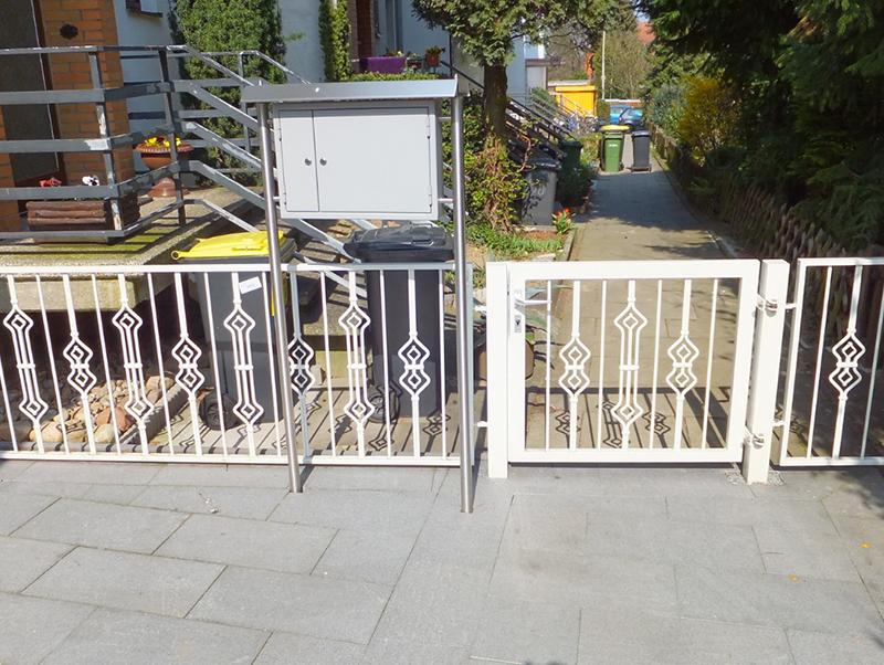 Braunschweig Zaunanlage Zaun Tor Metallzaun Vorgarten