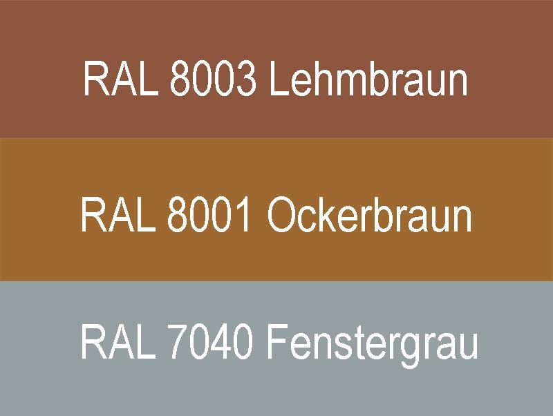 Garagentor Sektionaltor Farben braun rot orange grau